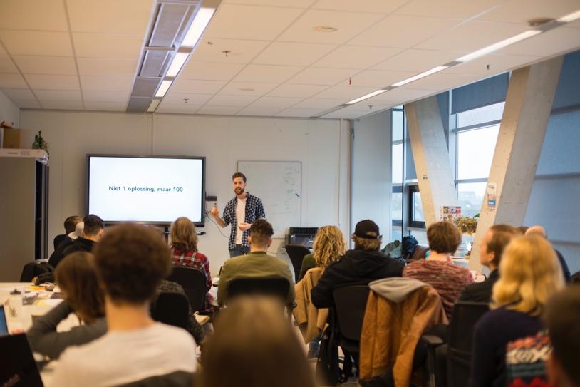 Ryco geeft een workshop aan studenten